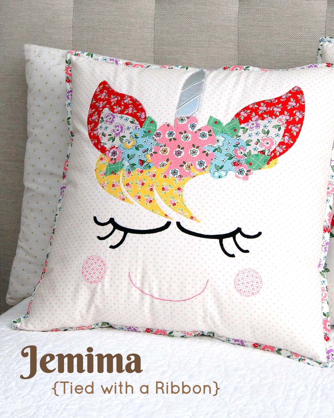 Mon Beau Jardin Blog Tour - Unicorn Dreams Pillow by Jemima Flendt of Tied with a Ribbon