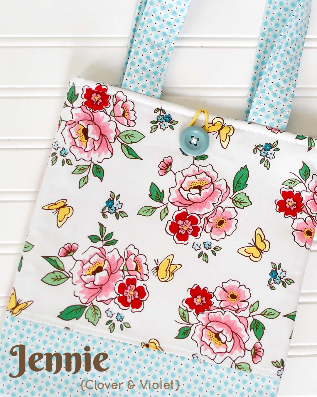 Mon Beau Jardin Blog Tour - Katie Book Sleeve Bag by Jennie of Clover & Violet