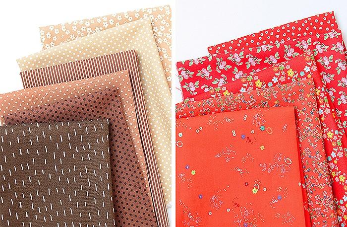 Mushroom Quilt Block Fabrics