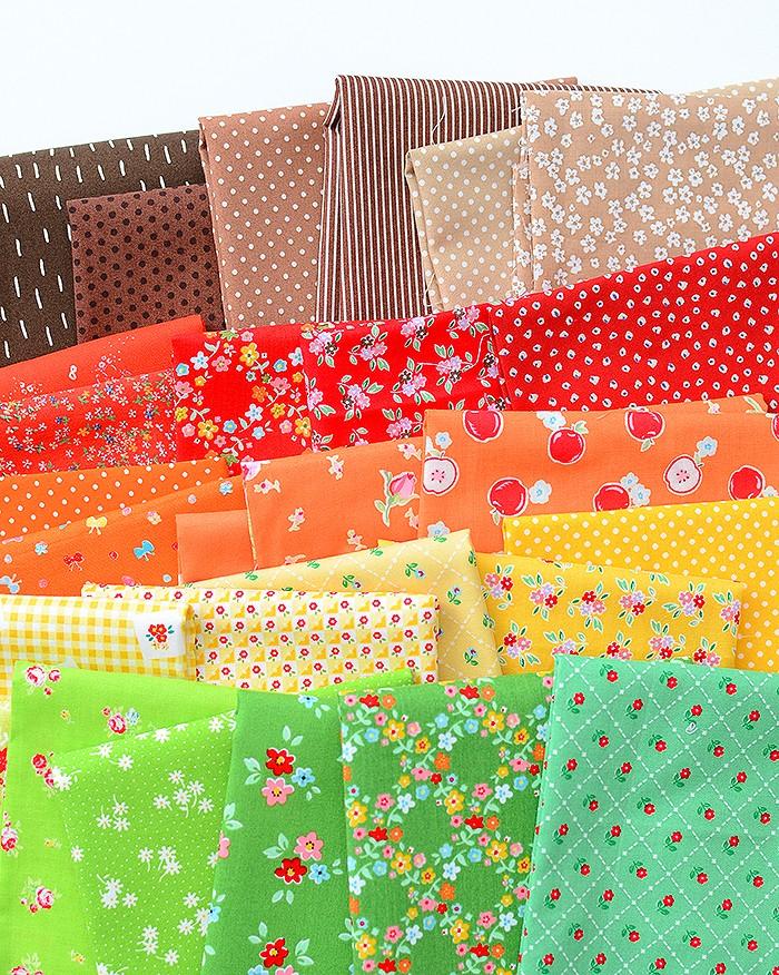 Fall Sampler Quilt Fabrics