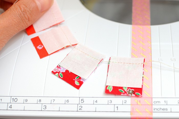 How to sew small pieces