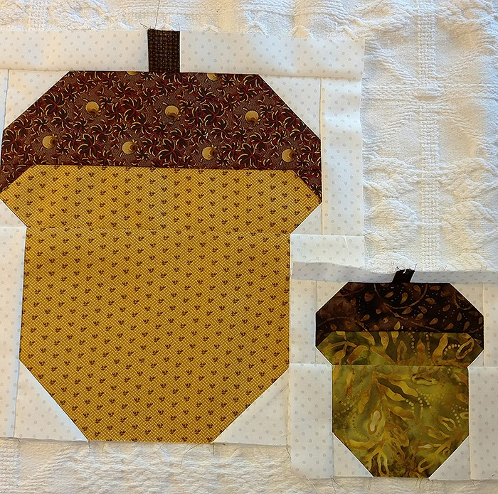 Acorn Quilt Block Pattern by Nadra Ridgeway of ellis & higgs