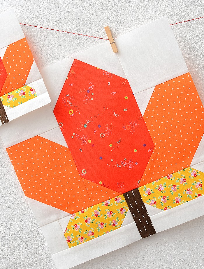 Maple Leaf Quilt Block Pattern by Nadra Ridgeway of ellis & higgs