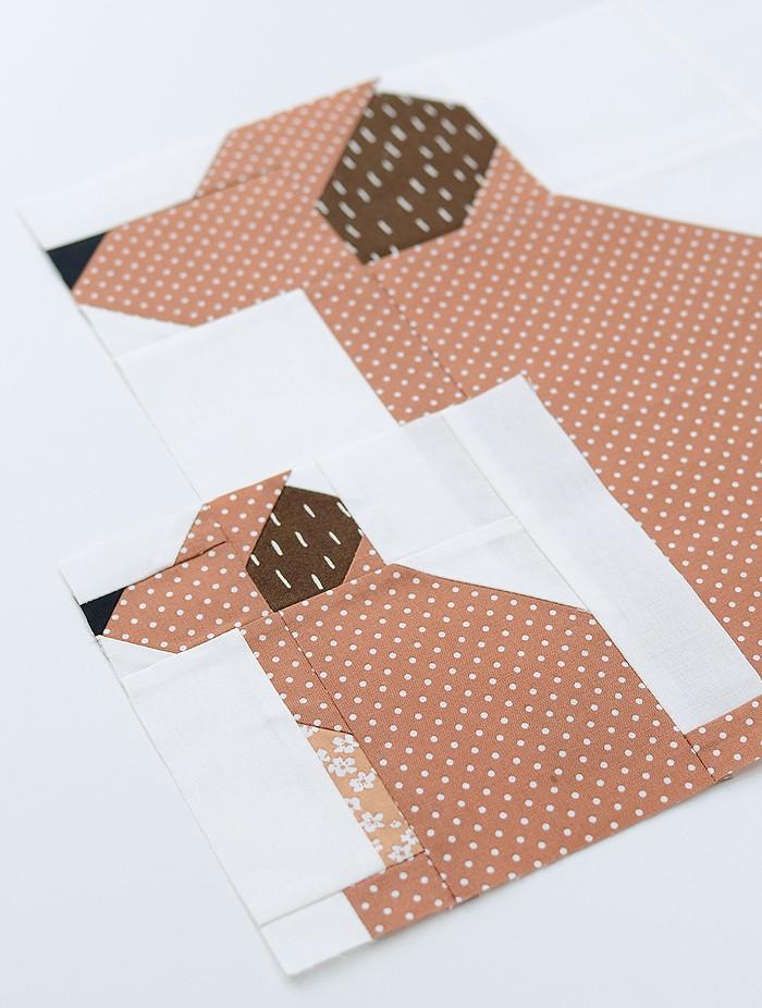 Puppy Quilt Block Pattern by Nadra Ridgeway of ellis & higgs