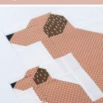 New Fall Quilt Pattern Puppy Dog Quilt Block Ellis Higgs