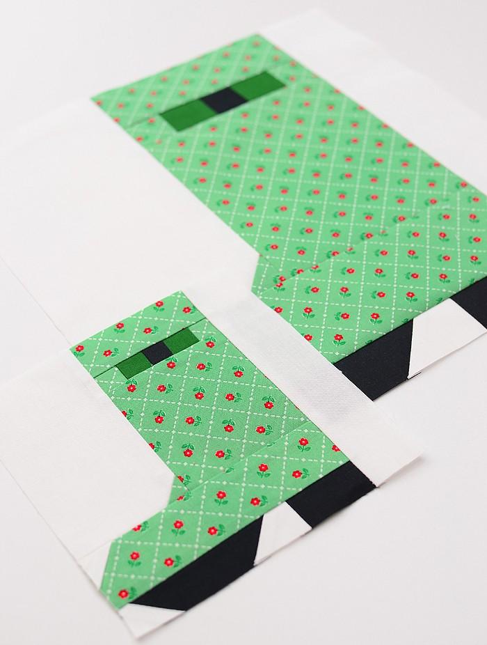 Rain Boot Quilt Block Pattern by Nadra Ridgeway of ellis & higgs