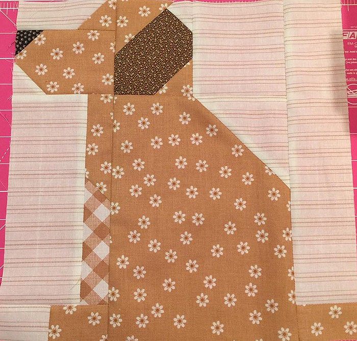 Dog Quilt Block Pattern by Nadra Ridgeway of ellis & higgs
