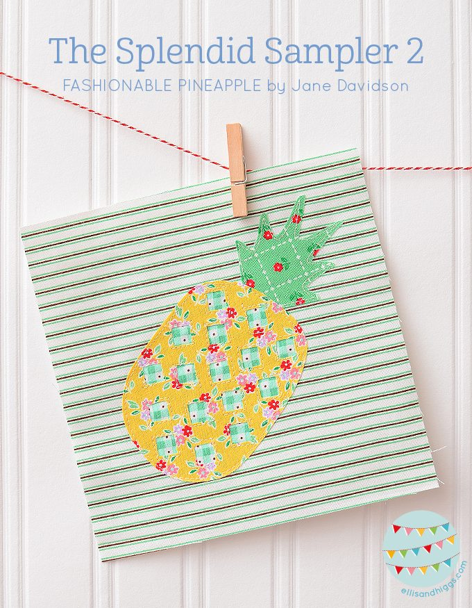 The Splendid Sampler 2 Fashionable Pineapple by Jane Davidson
