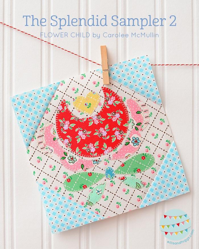The Splendid Sampler 2 Flower Child by Carolee McMullin