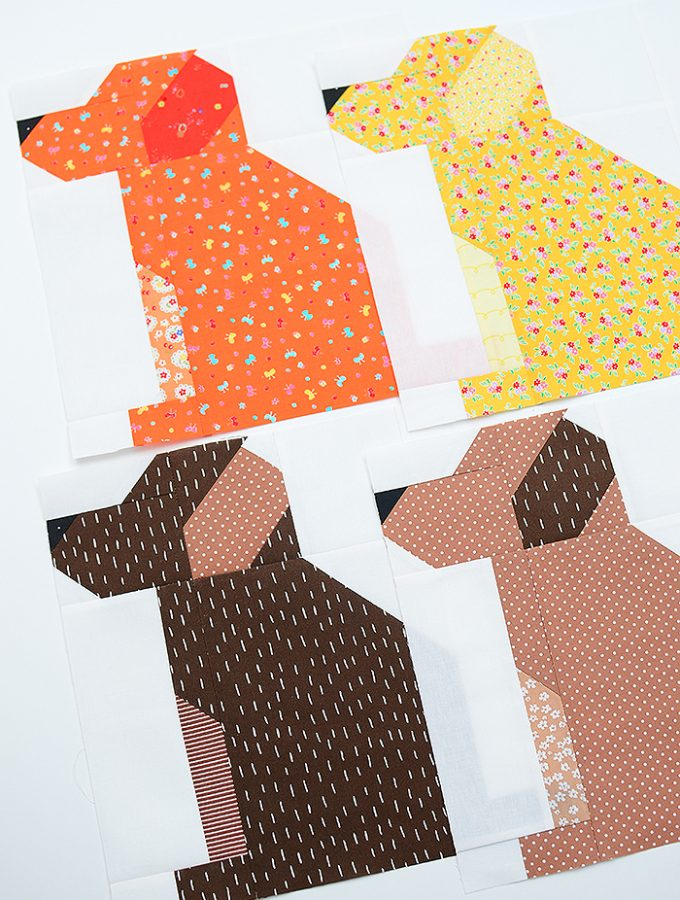 Fall Sampler Quilt Sew Along - Dog Quilt Block