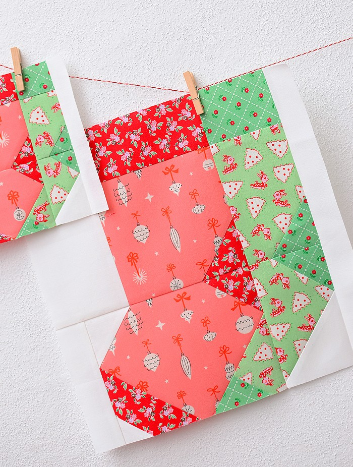 Christmas Stockings Quilt Block Pattern - Christmas Quilt Pattern