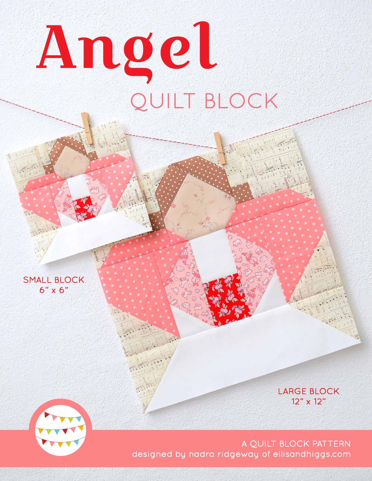 Angel Quilt Block Pattern - Christmas Quilt Pattern