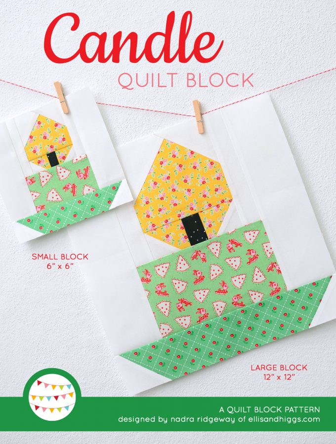 Candle Quilt Block Pattern - Christmas Quilt Pattern
