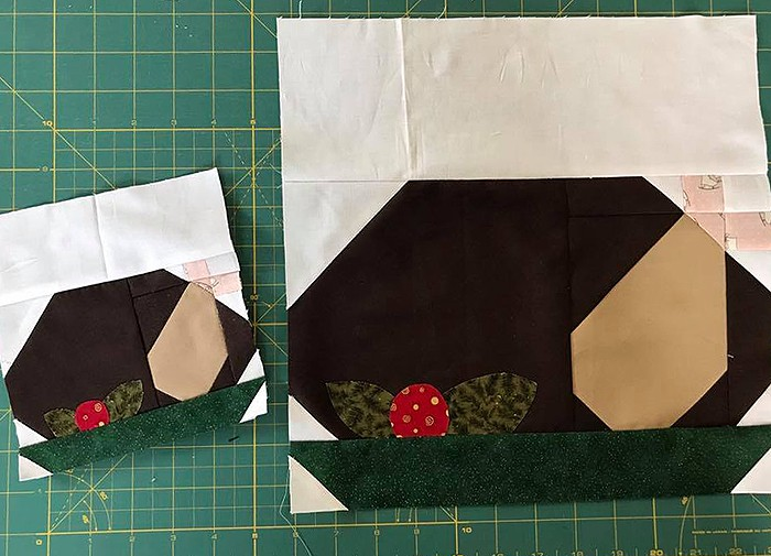 Roasted Turkey Quilt Block Pattern - Christmas Quilt Pattern