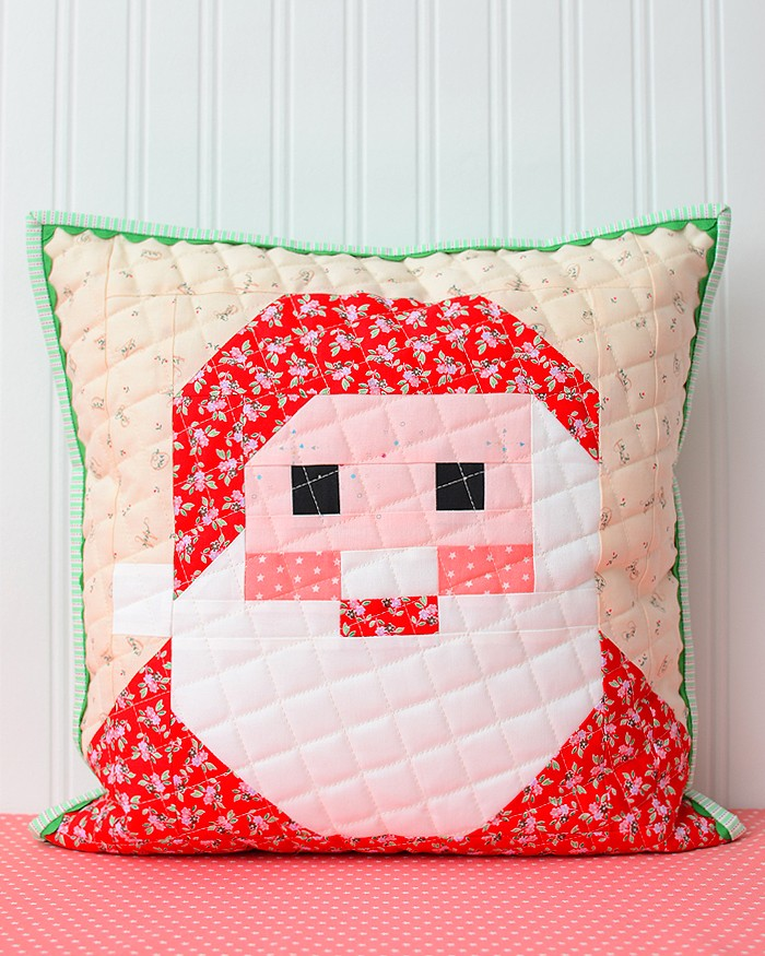 Santa Claus Quilt Block Pillow Pattern - Christmas Quilt Pattern