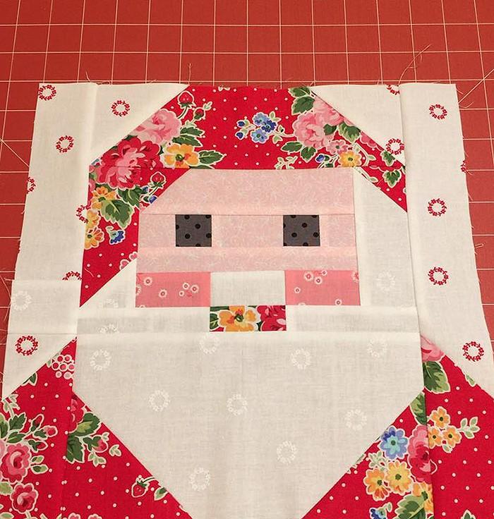 Santa Claus Quilt Block Pattern - Christmas Quilt Pattern