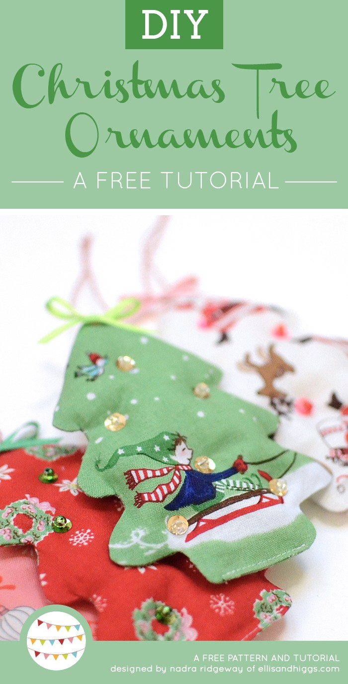 Free DIY Christmas Tutorials - Christmas Tree Fabric Ornaments