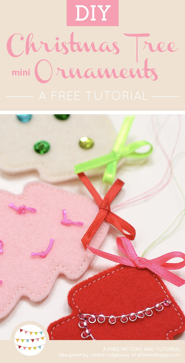 Free DIY Christmas Tutorials - Christmas Tree Felt Ornaments