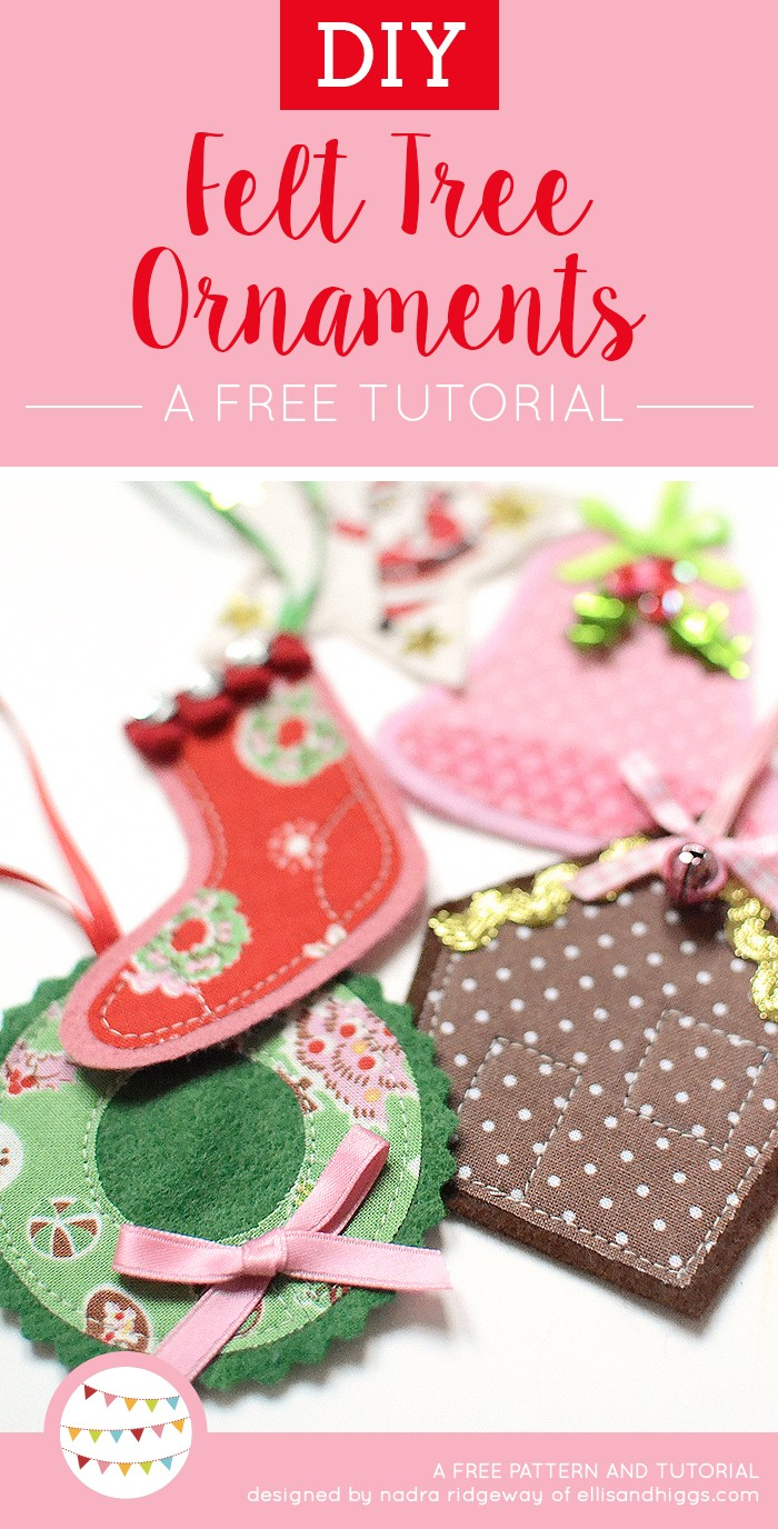 Free DIY Christmas Tutorials - Felt Ornaments