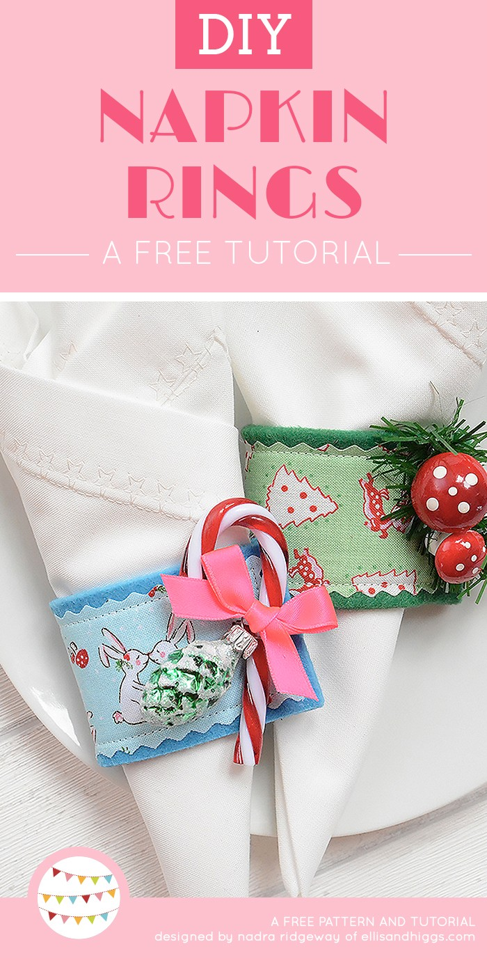 Free DIY Christmas Tutorials - Napkin Rings