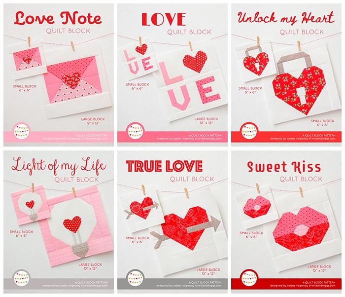 New Valentine's Day Heart Quilt Patterns