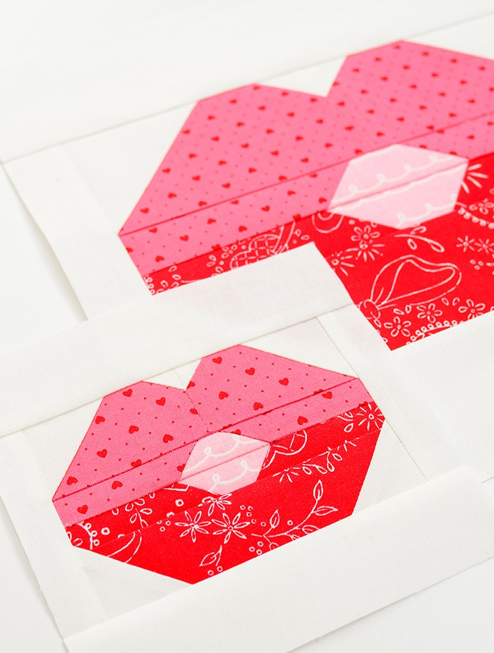 Lips Quilt Block - Valentine's Day Quilt Pattern