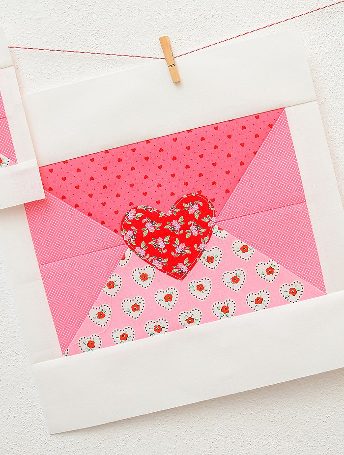 Love Note Quilt Block - Valentine's Day Quilt Pattern