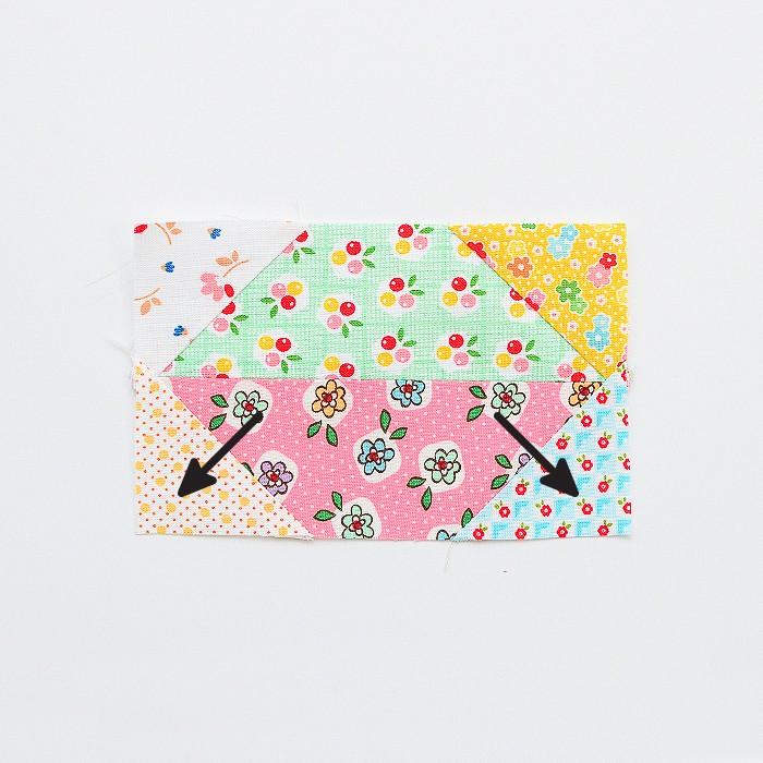 6 Köpfe 12 Blöcke 2019 - Propeller Quilt Block Tutorial