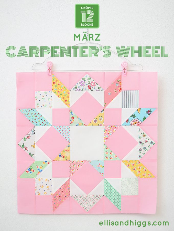 6 Köpfe 12 Blöcke 2019 - Carpenter's Wheel Quilt Block