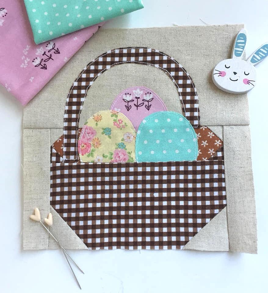 Easter Basket Quilt Block - Easter Quilt Patterns