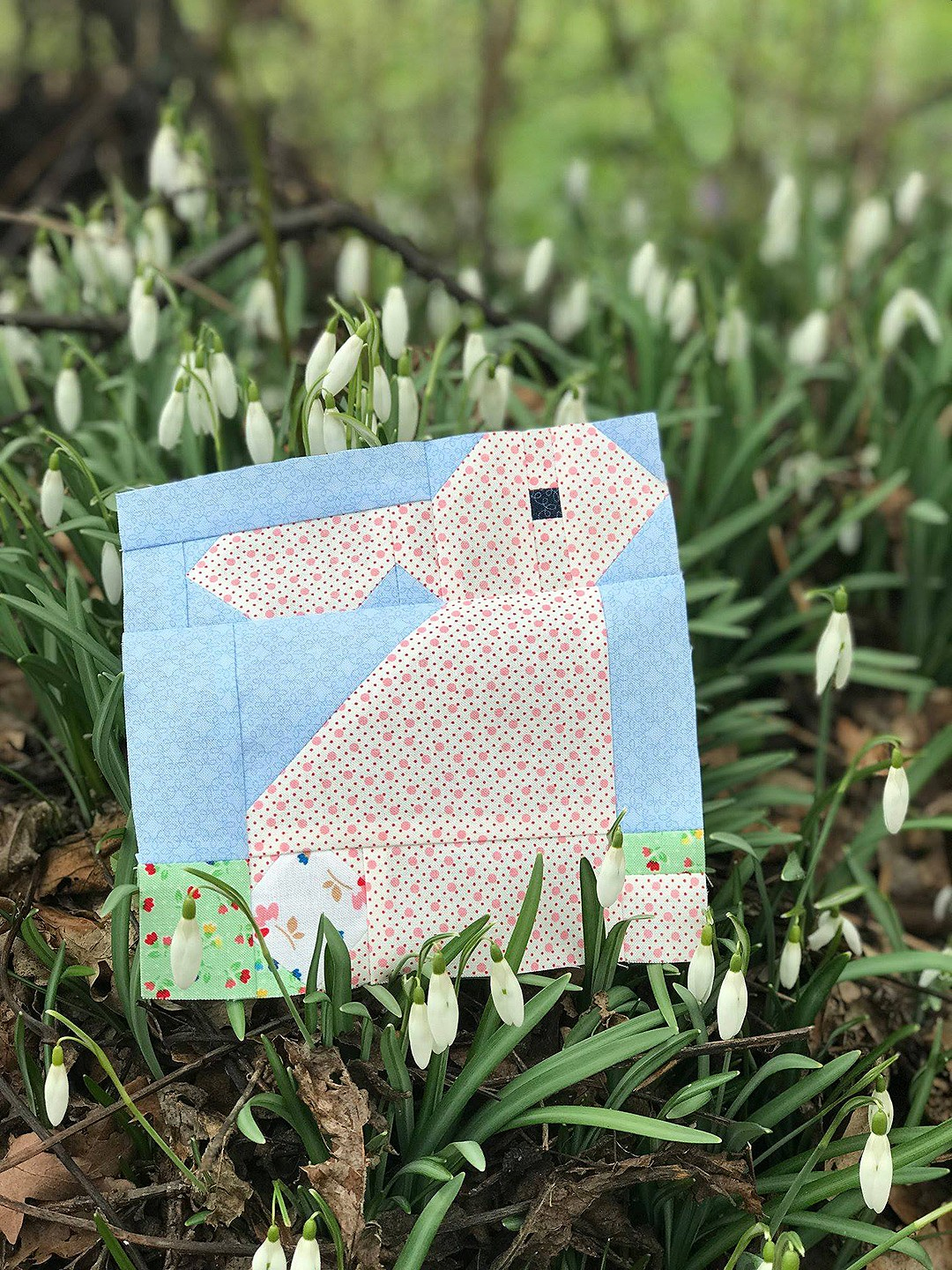 Standing Bunny Quilt Block - Easter Quilt Patterns