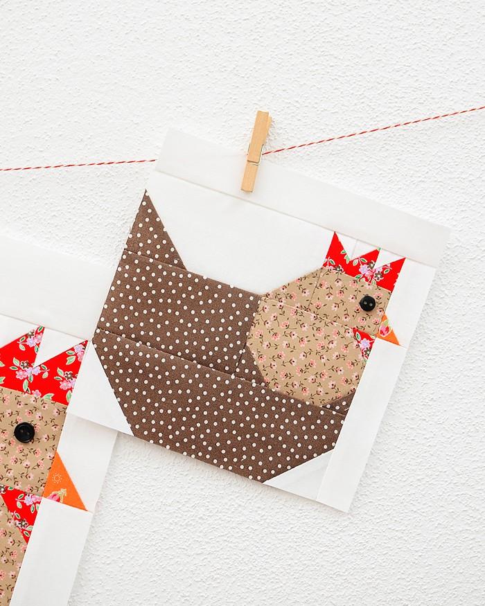 Hen Quilt Block - Easter Quilt Pattern
