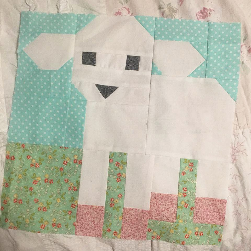 Little Lamb Quilt Block - Easter Quilt Patterns