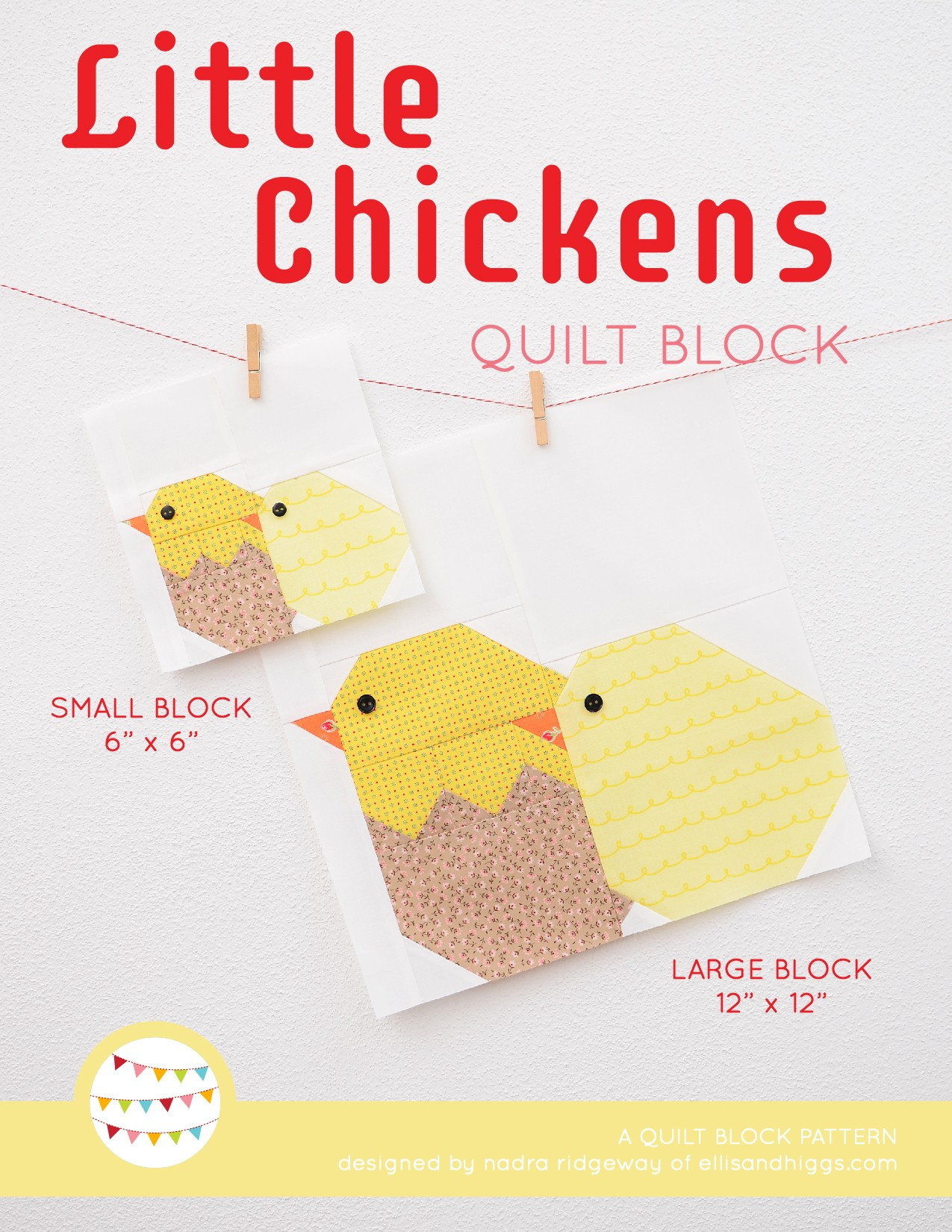 Little Chickens Quilt Block - Easter Quilt Pattern