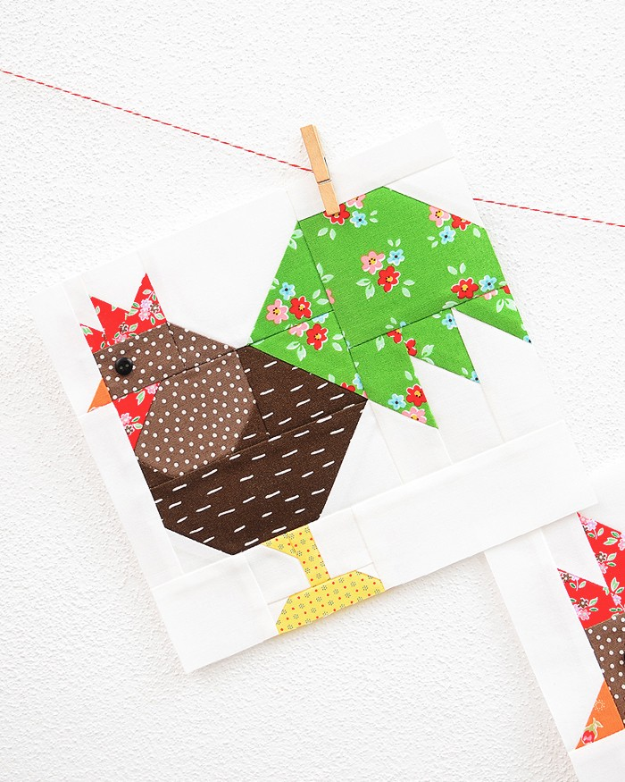 Rooster Quilt Block - Easter Quilt Pattern