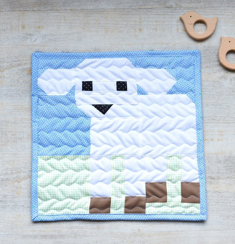 Little Lamb Quilt Block - Easter Quilt Pattern