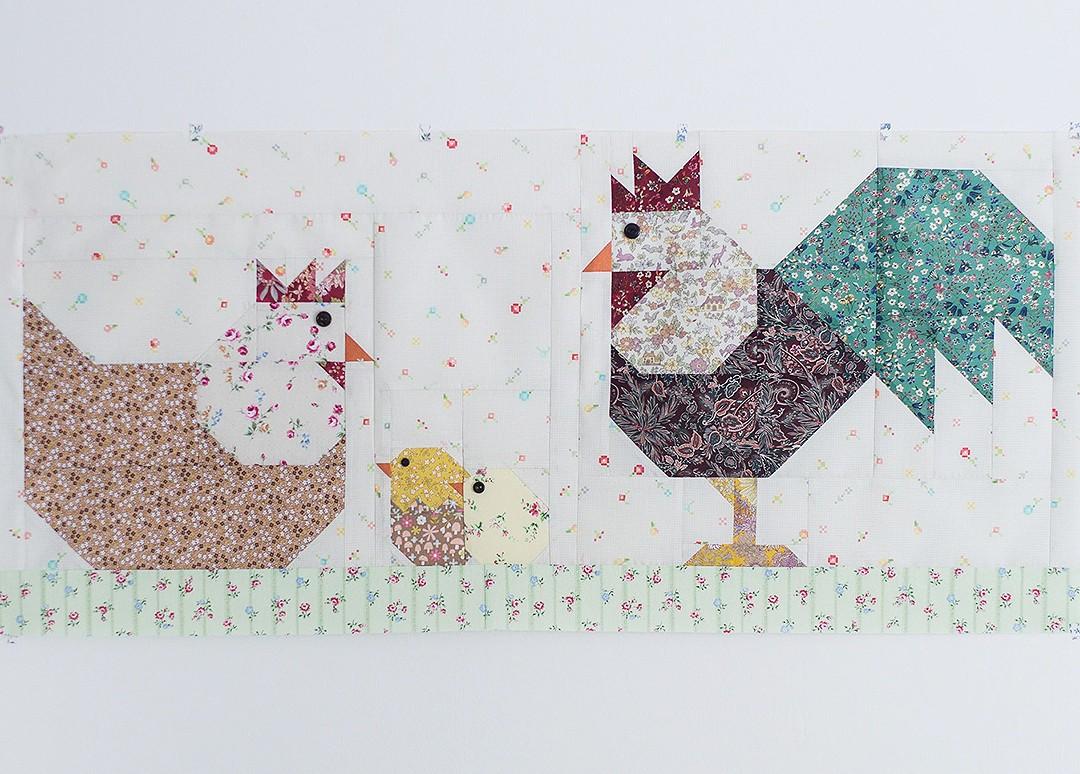 Chicken Family Table Runner - Easter Quilt Pattern