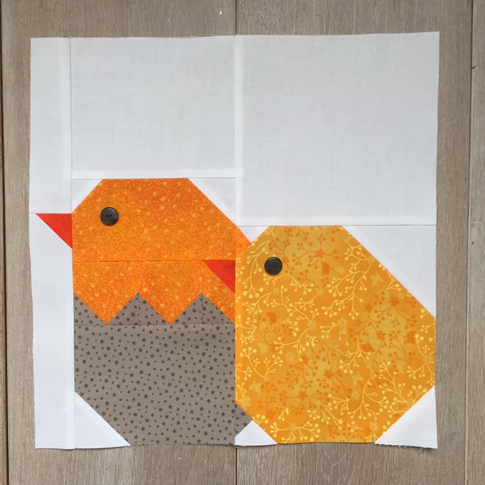 Little Chickens Quilt Block - Easter Quilt Patterns