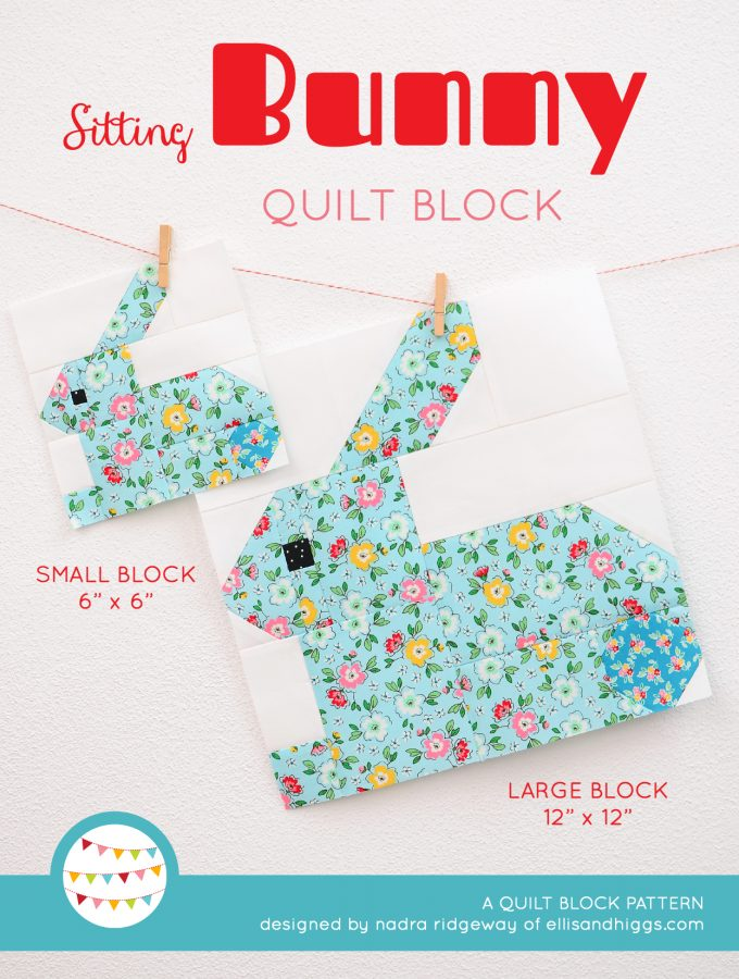 Sitting Bunny Quilt Block - Easter Quilt Pattern