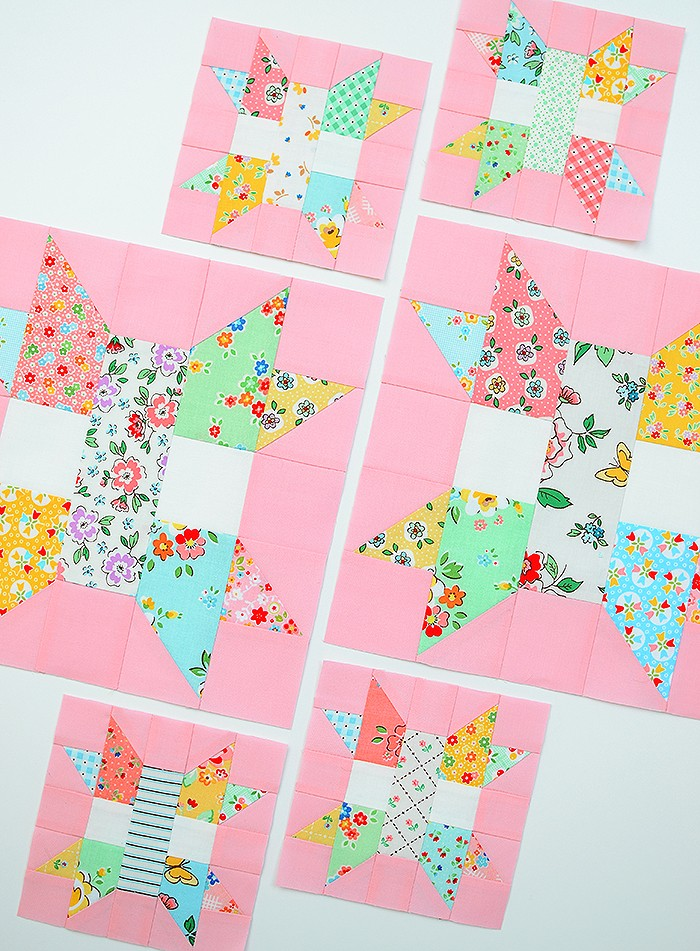 6 Köpfe 12 Blöcke 2019 - Star Plus Quilt Block