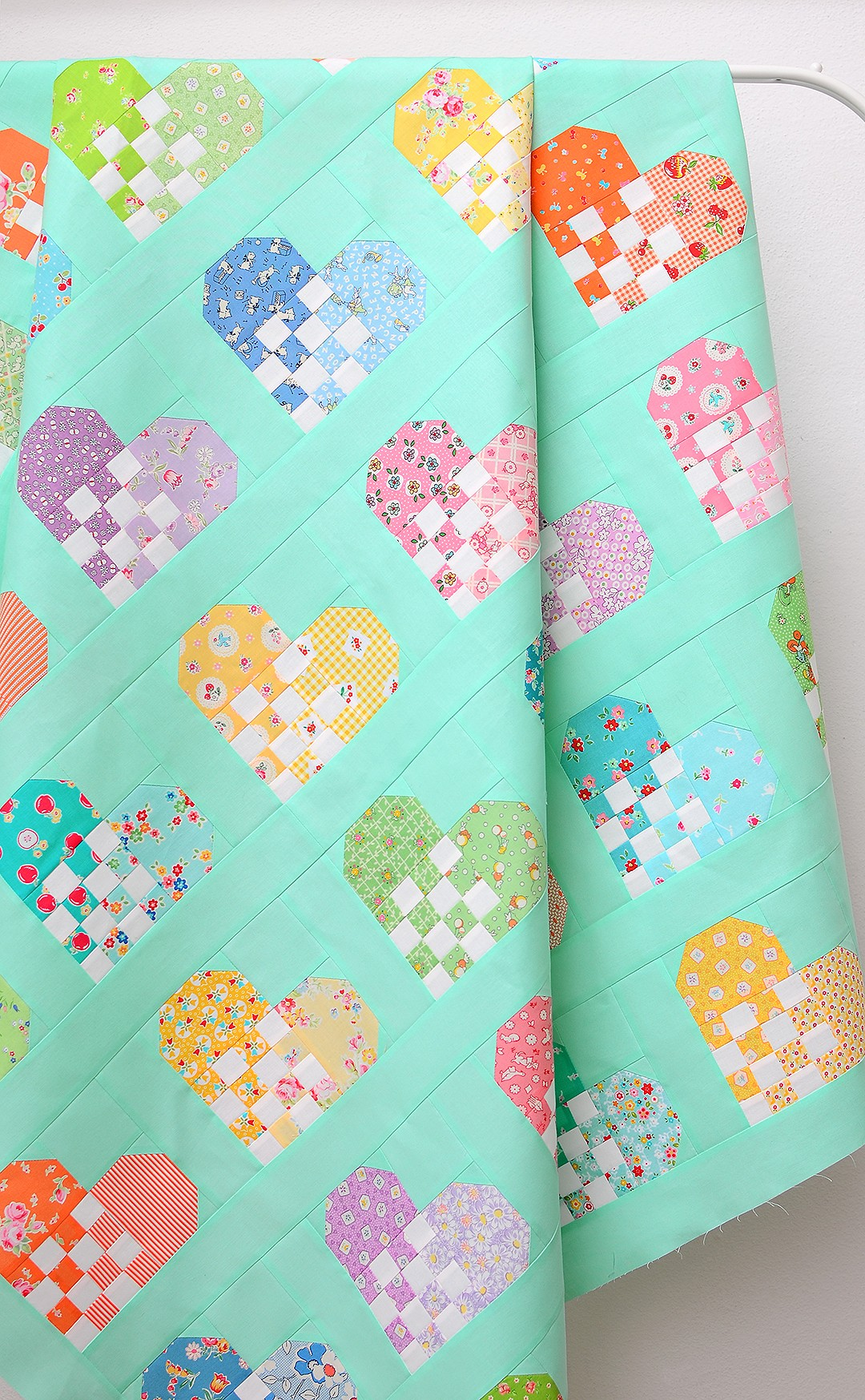 Checkered Heart Quilt - a free quilt pattern and tutorial