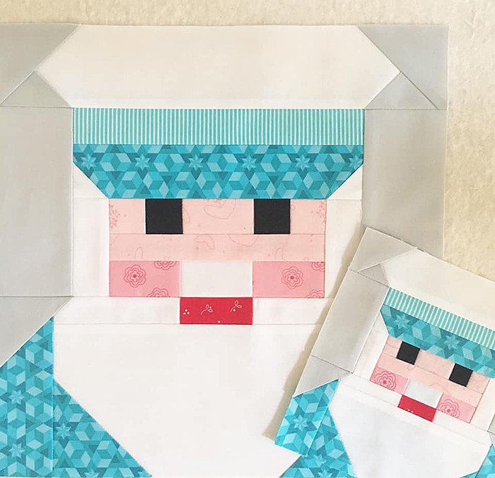 Captain quilt block pattern