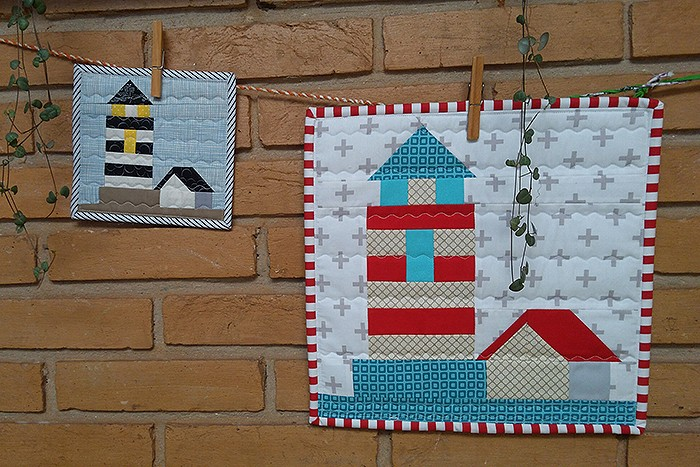 Lighthouse quilt block pattern