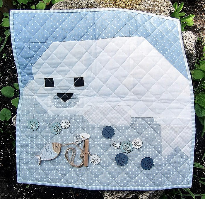 Seal Pup quilt block pattern