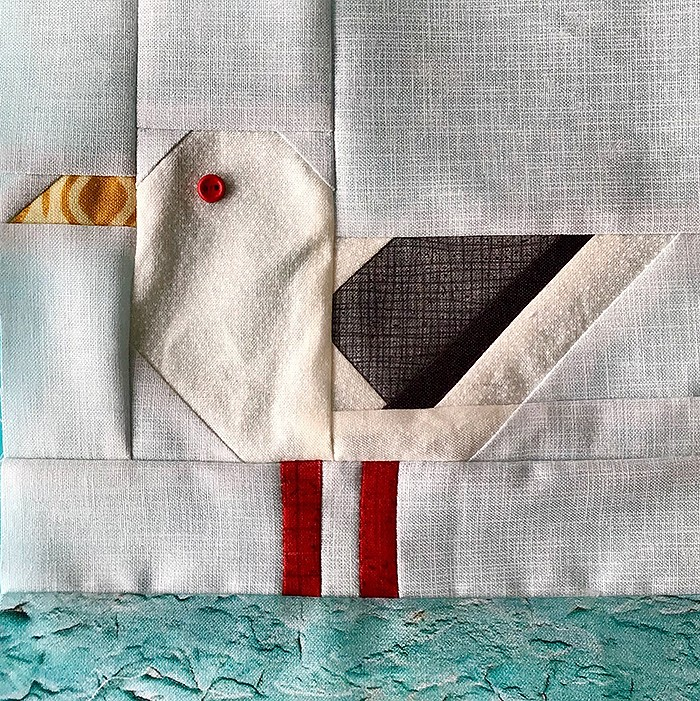 Seagull quilt block pattern