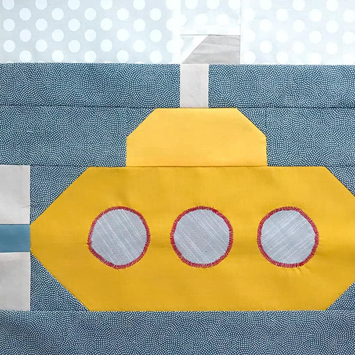 Submarine quilt block pattern