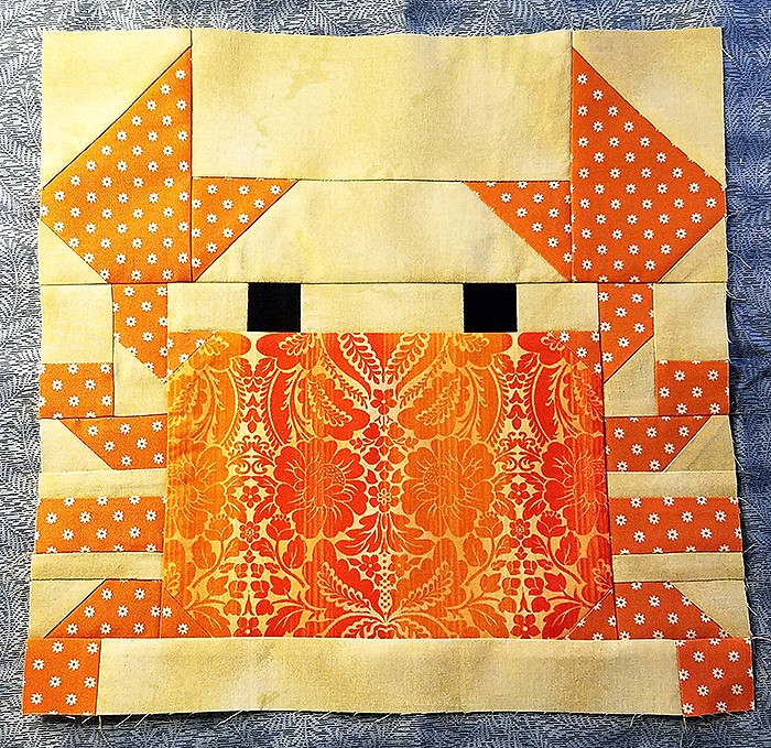 Crab quilt block pattern