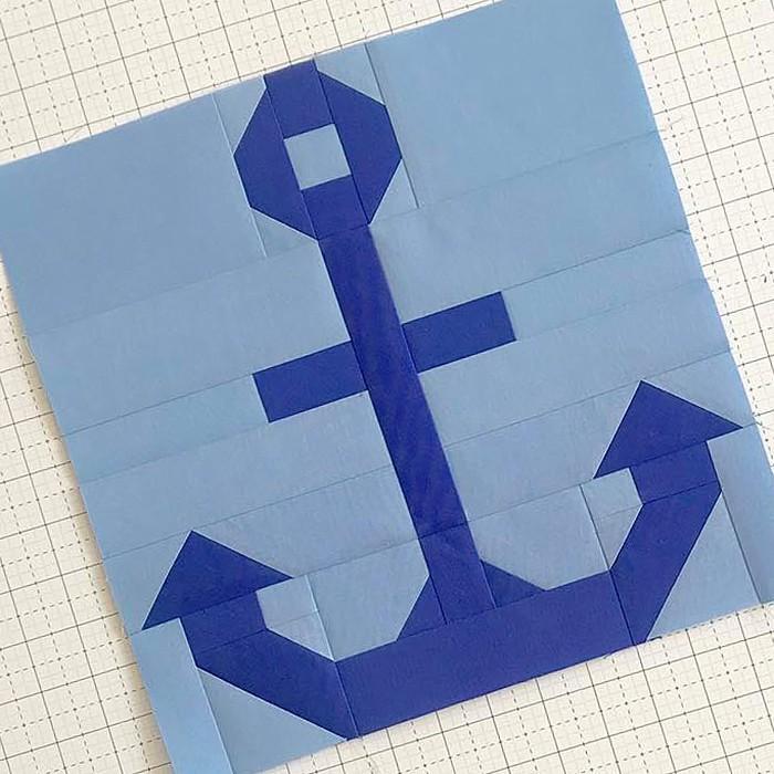 Anchor quilt block pattern