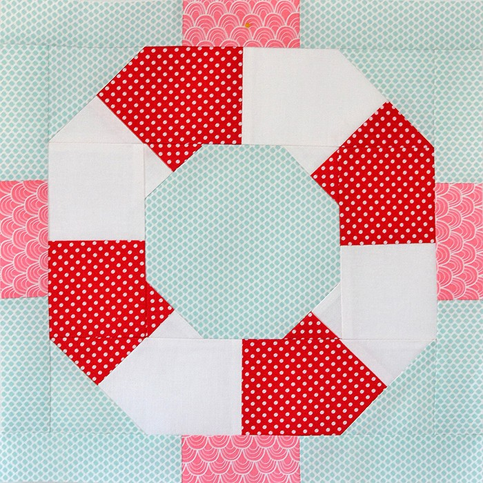 Lifesaver quilt block pattern