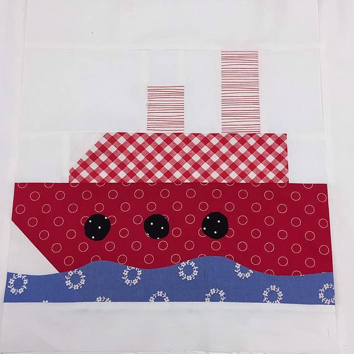Steamship quilt block pattern